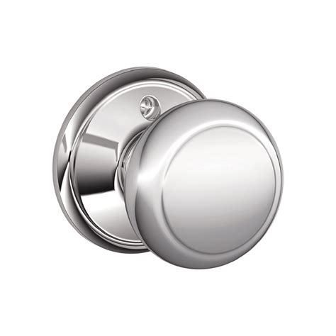 Schlage Chrome Door Knobs by Shop Schlage F Andover Bright Chrome Dummy Door Knob At