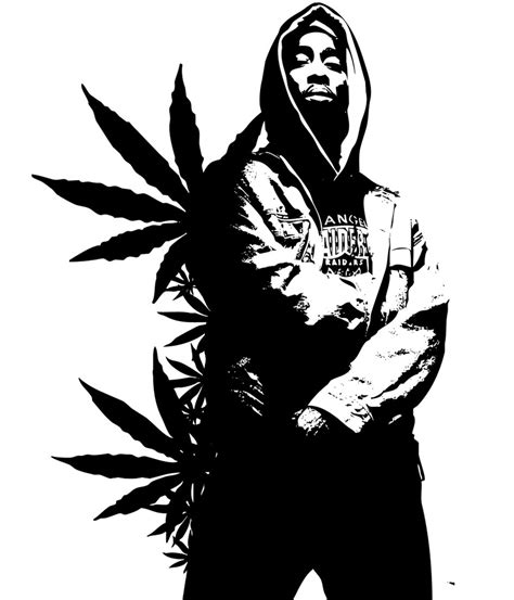 white facing weed 2pac weed stencil by seanjj on deviantart
