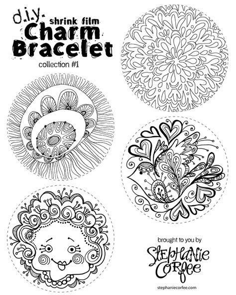 printable images for shrinky dinks 5 and below charm bracelet collection 1 stephanie corfee