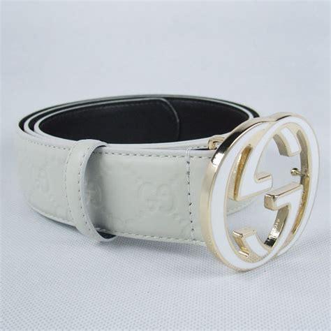 Guc Ci Silver White white gucci belt black buckle