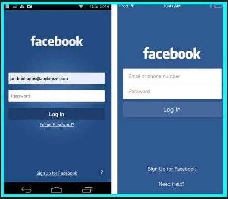 facebokk mobile mobile site login 2018