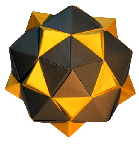 Origami Icosahedron - icosahedron equilateral triangles origami constructions