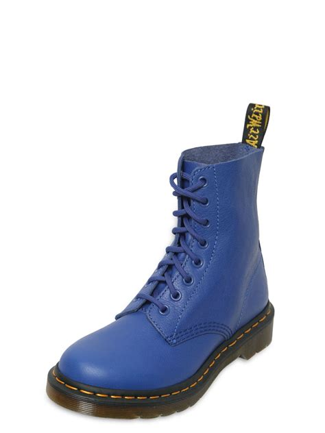 dr martens 30mm pascal soft leather boots in blue lyst
