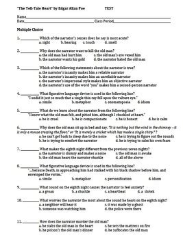 edgar allan poe biography and questions pictures the tell tale heart worksheets roostanama