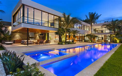 Miami Modern Home Design by Luis Bosch Designs And Builds A New Modern Miami Beach