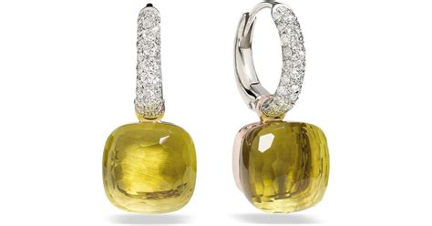 pomellato nudo earrings pomellato earrings nudo in yellow lyst
