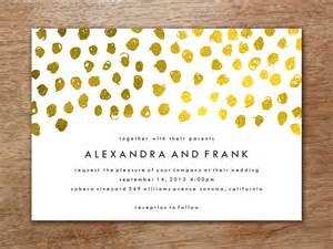 Wedding Invitation Template Gold Dots M M Invitation Template