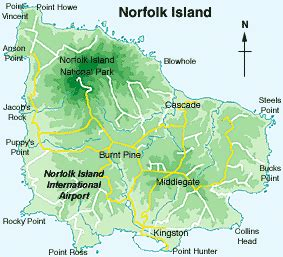 norfolk island map mystery islands of remote south polynesia don