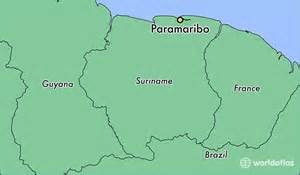 where is paramaribo suriname where is paramaribo