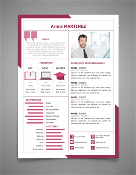 Lettre De Motivation Design Graphique Stage Tous Les Mod 232 Les De Cv Word Et Powerpoint 224 T 233 L 233 Charger Cr 233 Er Un Cv