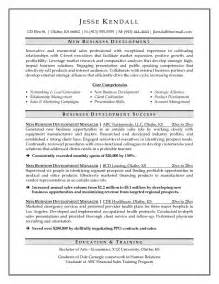 business development manager resume sles professional business development resumes writing resume