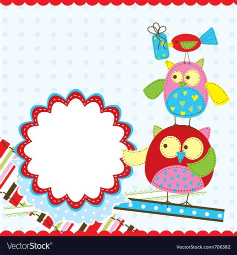 free vector birthday card template template birthday greeting card royalty free vector image