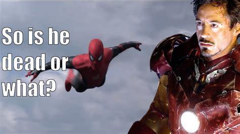 iron man dies avengers endgame confirmed spider man