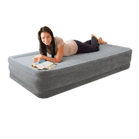intex deluxe single air mattress w built in buy mattresses 078257677665
