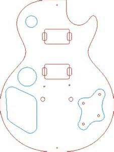 Les Paul Routing Template by All Categories Diy Electric Guitar
