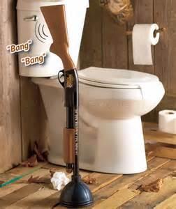 redneck home decor the redneck gun toilet plunger shotgun bathroom home decor