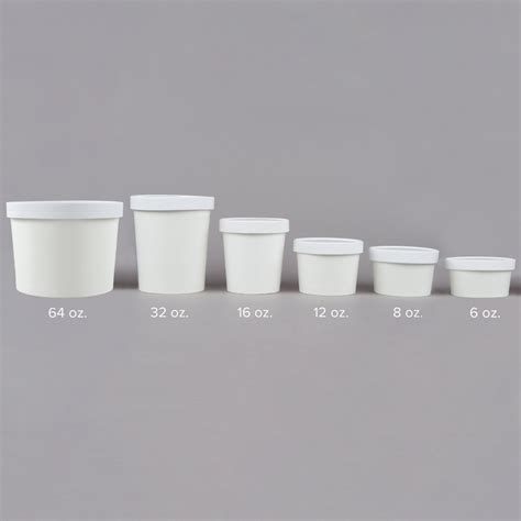 Cup 55gr 12 16oz choice 6 oz white poly coated paper soup food cup with vented paper lid 250