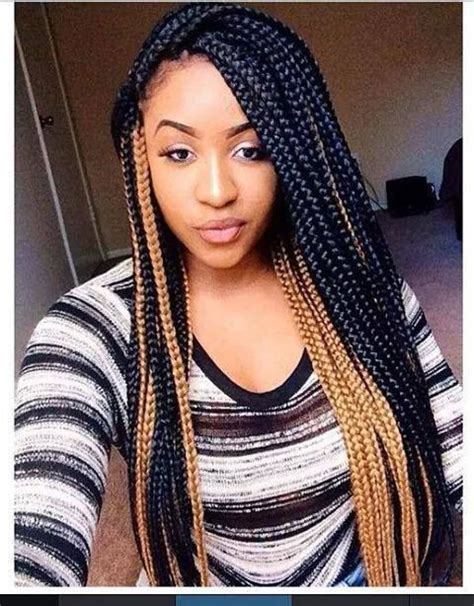 color braids mixed color box braids afro hair styles protectives