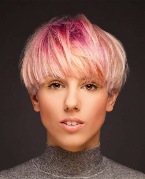 how to style pixie with fringe pixie cut with tousled fringe bowl cut pilzkopf