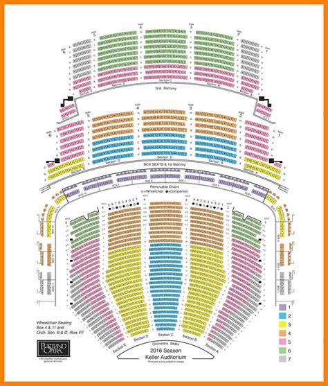 schnitzer concert seating chart 4 arlene schnitzer seating chart biodata sle