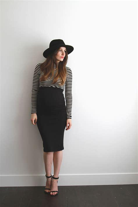 3 easy maternity pencil skirt diys