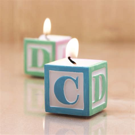 baby shower candle favors adorable baby block design scented candle favors baby