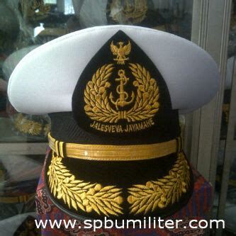 Topi Doreng Topi Al by Topi Dinas Tni Al Perwira Menengah Spbu Militer