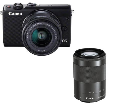 buy mirrorless buy canon eos m100 mirrorless with ef m 15 45 mm f