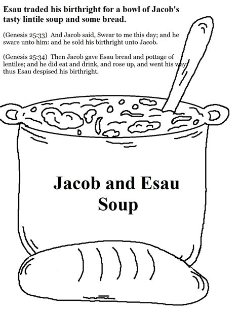 jacob and esau coloring pages images jacob esau and the birthright mission bible class