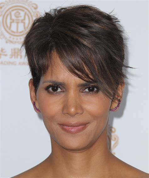 halle berry haircuts front and back halle berry short straight formal hairstyle dark