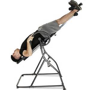 back exercises on bench inversion table exercise bench back spine pain align therapy fitness gym sciatic