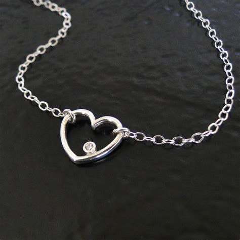 simple silver chain necklace images