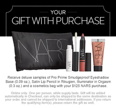 Nars Gift Card - nordstrom makeup gift with purchase gift ftempo