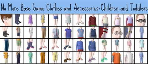 sims 3 basegame clothes and hair mod the sims no more base game clothes and accessories