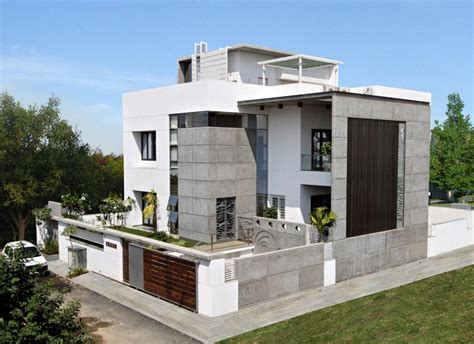 modern house front design interior exterior plan lavish cube styled home design for smaller spaces