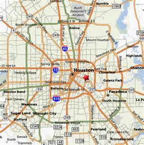 city map of houston houston usa