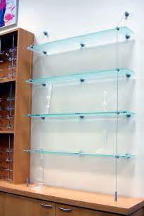suspended glass display shelves 1000 ideas about glass shelves on towel shelf