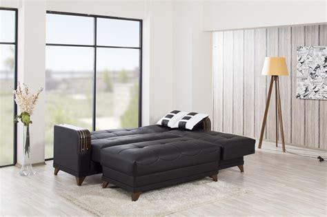almira zen black sectional sofa by casamode