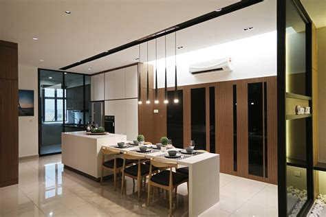 wet and dry kitchen design home design plan rimbun vista show unit receives a sleek and stylish touch