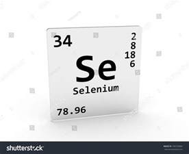 selenium symbol se element periodic table stock
