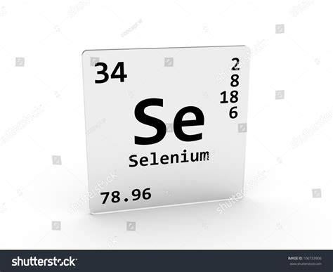 Selenium Periodic Table by Selenium Symbol Se Element Periodic Table Stock
