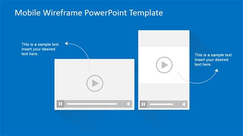 Mobile Wireframe Powerpoint Template Slidemodel Powerpoint Wireframe