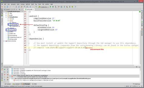 android studio gradle android studio 0 2 9 and new project stack overflow