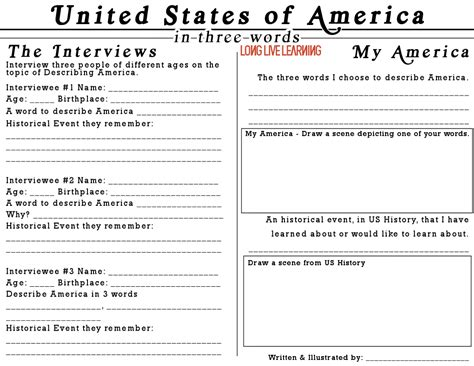 Make Your Own News Paper - newspaper interviews printable describe america in three