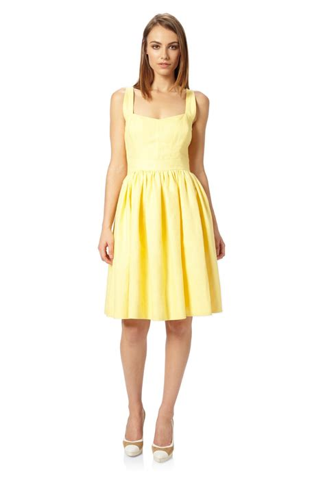 Connection Yellow Summer Dress by Mandy Linen Strappy Dress Season
