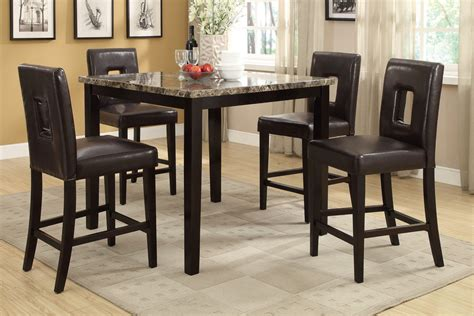 counter height dining room furniture counter height dining chairs 4pcs set dining room furniture f1321 2 ebay