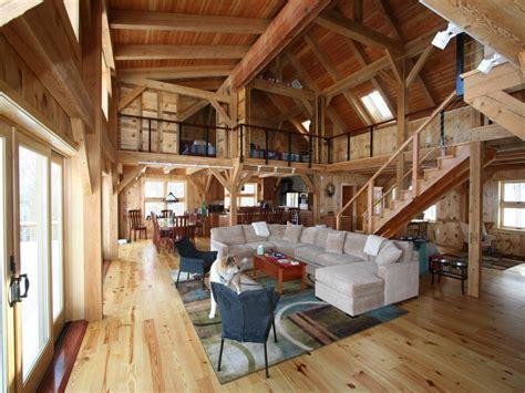 Metal barn house, pole barn home's interior barn home