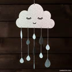 cloud mobile template paper diy baby mobile lia griffith