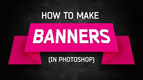 banner design with photoshop tutorial photoshop tutorial banners and ribbons youtube
