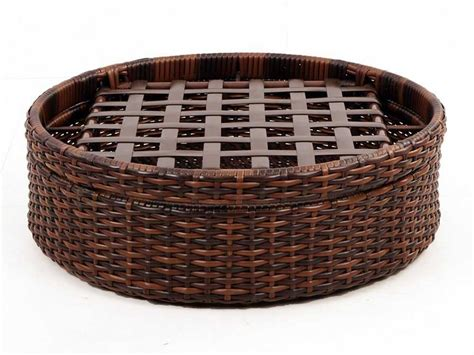 rattan ottoman south sea rattan st tropez wicker cushion ottoman 79326